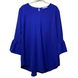 Ces Femme Long Bell Sleeve Top Size 1X X-Large Blo